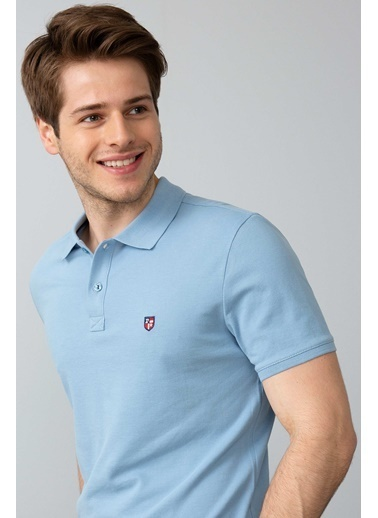 U.S. Polo Assn. Slim Fit Polo Yaka Tişört Mavi